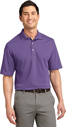 Port Authority Herren Button-down Poloshirt Violett - Dusty Purple