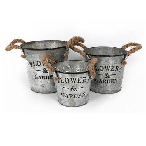 vintage-style-set-3-flowers-garden-galvanised-metal-planter-rope-handles
