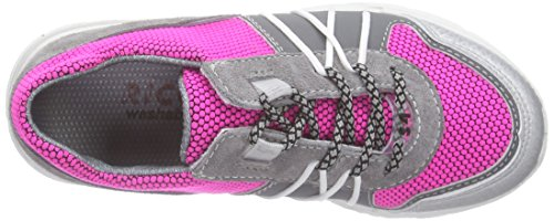 Ricosta Pascal, Baskets Basses fille Rose - Pink (neonpink/graphit 348)