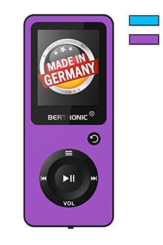 BERTRONIC Made in Germany BC02 Royal MP3-Player mit Kopfhörer, 16 GB ★ Bis 100 Stunden Wiedergabe ★ Radio | Portabler Player mit Lautsprecher | Audio-Player für Sport mit Micro SD-Karte & Silikonhülle