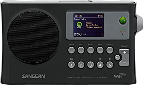 sangean wfr-28 rechargeable portable wifi internet radio-black Sangean WFR-28 Rechargeable Portable WiFi Internet Radio-Black 41Jbd15DMpL