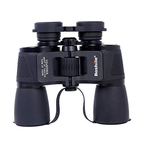 FELICIPP Jumelles HD 10 * 50 Télescope de visionnement de Concert de Vision Nocturne de Niveau de lumière élevé de Puissance élevée pour Une Utilisation en extérieur (Color : Black)