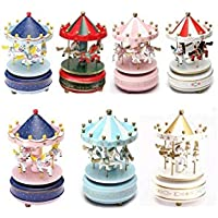 TrAdE shop Traesio Musical Carousel Music Box Music Melody Horses Horse Seahorse Coloured preiswert