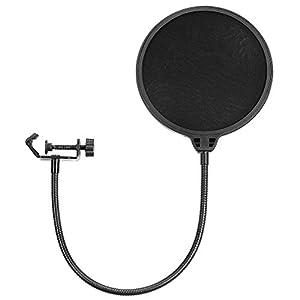 """Neewer NW(B-3) 6"""" Filtro Antipop di Microfono da Studio con Clip di Supporto - Rotondo, Nero"""
