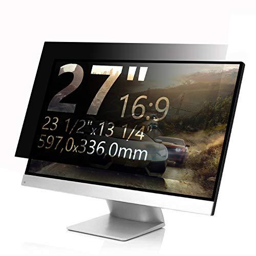 Xianan Blickschutzfolie 27 Zoll 16:9 Breitbild Bildschirmfilter Displayfilter Displayschutz Sichtschutzfolie Privacy Filter (27 Zoll 16:9 23,5x13,23zoll/597x336mm)