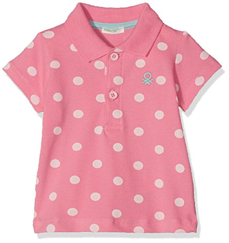United Colors of Benetton United Colors of Benetton Baby - Jungen H/S Polo Shirt Poloshirt, per Pack Rosa (Pink 921), 56 (Herstellergröße: 56)