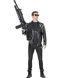 Herren Film & TV Fancy Kleid Terminator Kostüm (Jacke Bullet Gürtel & Brille)