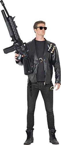 Film Jacke Kostüme (Herren Film & TV Fancy Kleid Terminator Kostüm (Jacke Bullet Gürtel & Brille) Gr. M,)