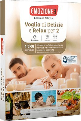 Emozione3 - VOGLIA DI DELIZIE E RELAX PER 2 - Cofanetto Regalo - Gusto e benessere in tutta Italia