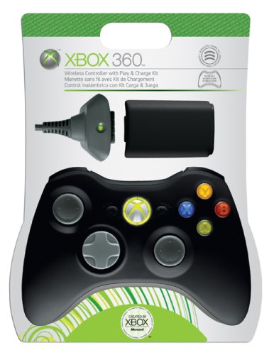Microsoft Xbox 360 Play & Charge Kit with Controller (Black)  available at amazon for Rs.13320
