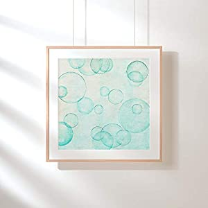 Fotografie Print Kunstdruck 12x12cm Kreise Seifenblasen Quadrat