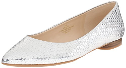 Nine West Onlee Toe Pointy synthétique plat Silver Synthetic