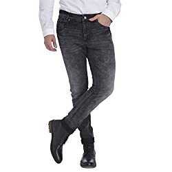 Mufti Mens Black Low Rise Slim Fit Jeans (32)