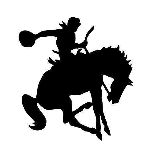 xlei Etiqueta De La Pared Western Rider Horse Etiqueta De La Pared De Vinilo Removible Tatuajes De Pared Autoadhesivo Wallpaper para Niños Dormitorio Sala De Estar Decoración para El Hogar58X62 Cm