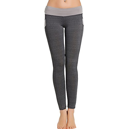 (Ears Frauen Sporthose Yogahose Tights Fitnesshose Sport Leggings Mitte Taille Skinny Leggings Patchwork Push Up Yogahosen Haremshose Elegant Laufenhosen Beiläufige Streetwear Skinny Hose)
