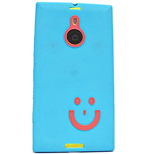 Smiley Soft Back Case Cover Back Cover For Nokia Lumia 1520 - Pink In Blue  available at amazon for Rs.149