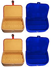 Afrose Combo 2 Pc Earring Box And 2 Pc Blue Ear Ring Folder Vanity Case