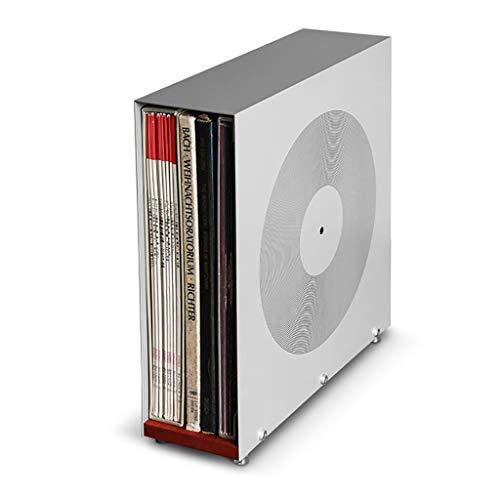 GWXJZ CD Regal CD-Aufbewahrungsregal Vinylaufzeichnungshalter-Kasten Cd-Diskettenrahmen-Zahnstange Vinylaufzeichnungs-Speicher-Regal für Plattenspieler