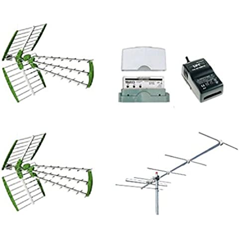 Kit antenna digitale terrestre DVBT 2 antenne UHF + 1