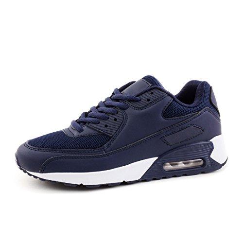 Unisex Herren Laufschuhe Schnür Sneaker Sport Fitness Turnschuhe Navy 41