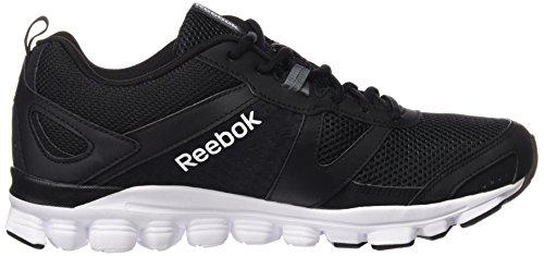 Reebok Hexaffect Run le, Scarpe da Corsa Uomo Multicolore (Black / Alloy / White)