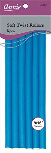 Annie - Bigoudi Souple Torsadé 1.42cm Diamètre (1207)