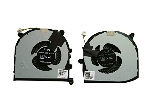 HK-part Replacement Fan for Dell XPS 15 9560 CPU+GPU cooling Fan 2 Fans  Left+Rig