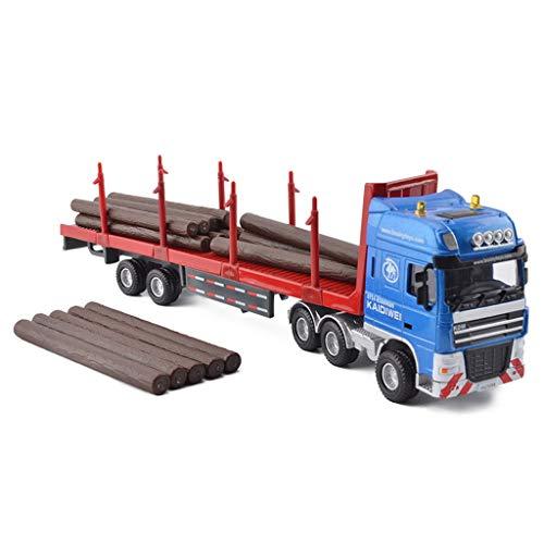IVNGRI-Auto Model Holztransporter Maßstab 1:50 Modelldruckguss - Legierung Simulationstechnik Fahrzeugmodell Kinder Junge Spielzeug - 25,9x5x7 cm (Model Nissan Auto Kit)