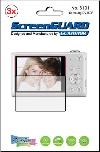 3x Samsung DV150F DV150DualView Kamera Premium Clear LCD displayschutzfolie Cover Guard Shield Schutzfolie Kit., exakte Passform, kein Schneiden. (3Stücke von GUARMOR) - Carry Case Lcd Guard