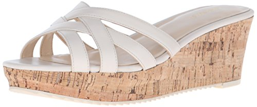 Nine West Caserta Leather Platform Sandal Off White