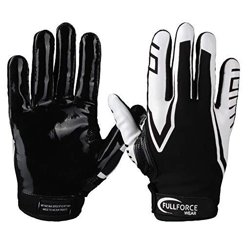 Full Force American Football Receiver Gloves Handschuhe Titanium 3 - schwarz/weiß Gr. M