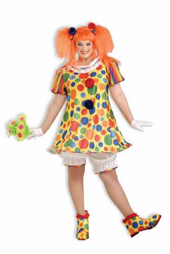rkus-Clown Kostüm Kleid für Erwachsene Plus-Größe (Erwachsenen Plus Kostüme)
