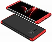 جراب GalaXy Note 8، جراب هاتف نحيف 3 في 1 رفيع للغاية لهاتف Samsung GalaXy Note 8 أسود وأحمر