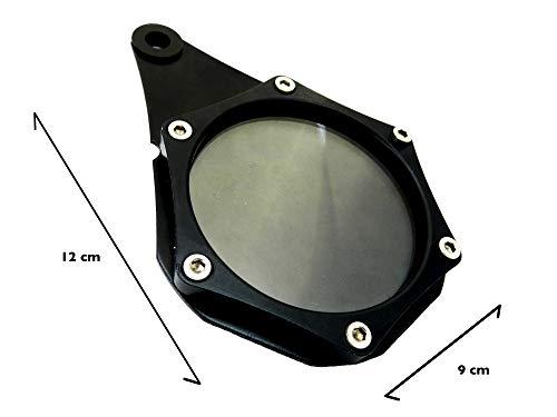 HopIn! Porte-Vignette Assurance ou Crit'Air Aluminium Noir étanche Moto/Scooter/Quad