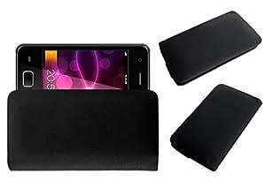 Acm Rich Leather Soft Case For Karbonn Smart A50 Mobile Handpouch Cover Carry Black