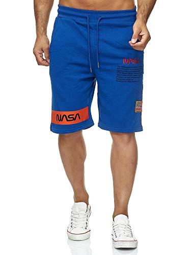 Red Bridge NASA M4854 - Pantalones Cortos para Hombre, diseño con Logotipo de la Bandera de EE. UU....