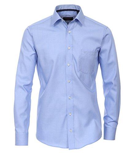 Casa Moda - Modern Fit - Bügelfreies Herren Business langarm Hemd in verschiedenen Farben (362440100-A) Blau (100)