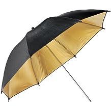 Neewer 84 cm de iluminación reflectante retrato paraguas estudio de fotografía - Negro y Oro