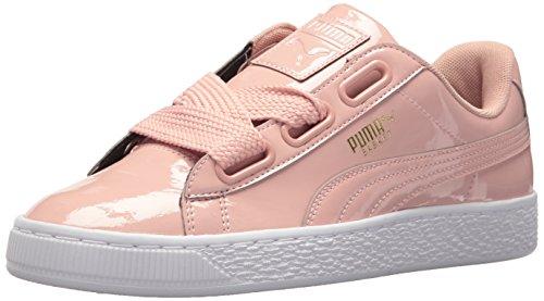 Puma Damen Basket Heart Patent Wn Turnschuh, Peach Beige, 42 EU Pink Patent Plattform