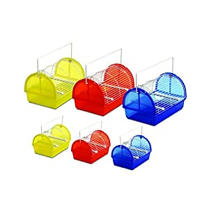 Karlie Transportbox 29,5 x 20 x 18 cm für Vögel und Kleintiere, farblich sortiert