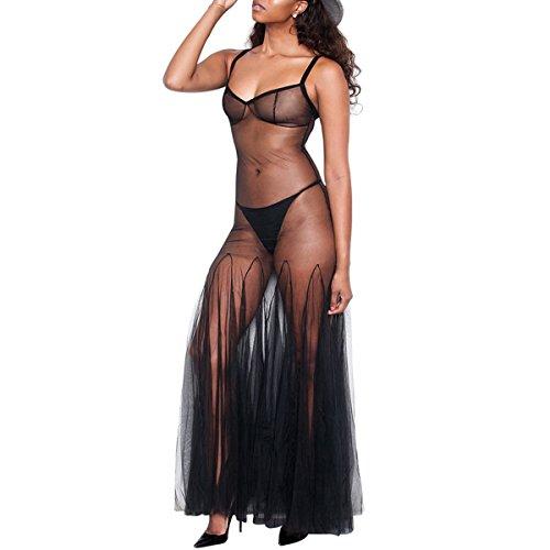 jileSM Fashion Lady dress Women Sheer Pleated Swing Bikini Cover Up Mesh Spaghetti Strap Beach Maxi Dress for Women dress