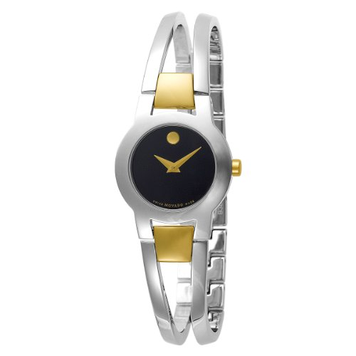Movado 604760 - Orologio da polso da donna, cinturino in acciaio inox colore argento