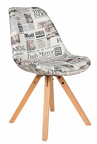 Küche Stuhl Polster (ts-ideen 1x Design Wohnzimmer Esstisch Küchen Stuhl Esszimmer Sitz Polster Weiß Zeitung)
