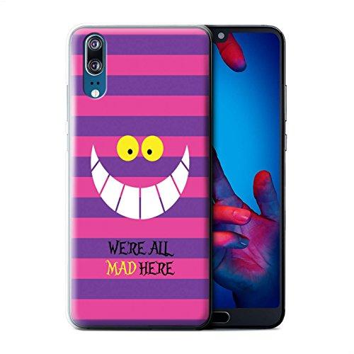 Stuff4® Hülle/Case für Huawei P20 / Cheshire Cat/Verrückt Hier Muster/Fantasie-Wunderland-Kunst Kollektion