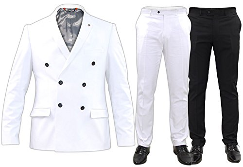 Ex-Branded Mens Formal Slim Fit Dinner Suit Blazer Trousers Stretchable Party Costume Dress