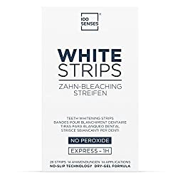 100SENSES White-Strips, Tooth Whitener Kit With 28 Teeth Whitening Strips For Brighter And Whiter Teeth Within 14 Days