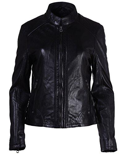 coole Lederjacke Gipsy schwarz L XL XXL Zipper Taschen kurz, Größe:XXL;Farbe:schwarz