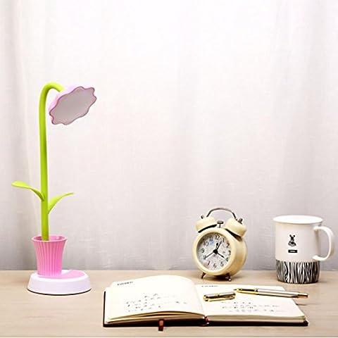 Xshuai Niedriger Verbrauch Neue Sonnenblume LED Aufladung Schreibtisch Lampe Unterstützung