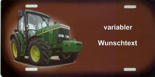 Namensschild Traktor John Deere