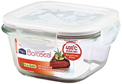 Frischhalteboxen / Frischhaltedose Boroseal | Multifunktionsboxen sind mikrowellen-, gefriertruhen- und spülmaschinengeeignet | Maße(BxTxH)120x120x65 mm, bis 400°C